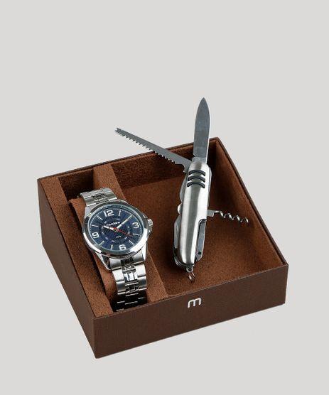 Kit-de-Relogio-Analogico-Mondaine-Masculino---Canivete---83419G0MVNE2K-Prateado-9282653-Prateado_1