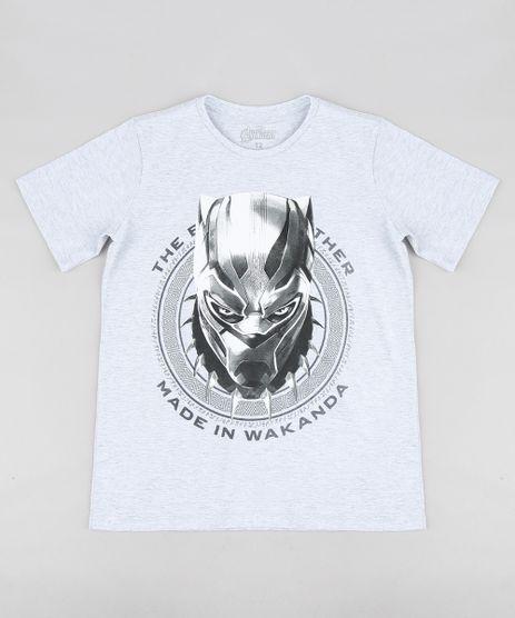Camiseta-Infantil-Pantera-Negra-Os-Vingadores-Manga-Curta-Gola-Careca-Cinza-Mescla-Claro-9316437-Cinza_Mescla_Claro_1