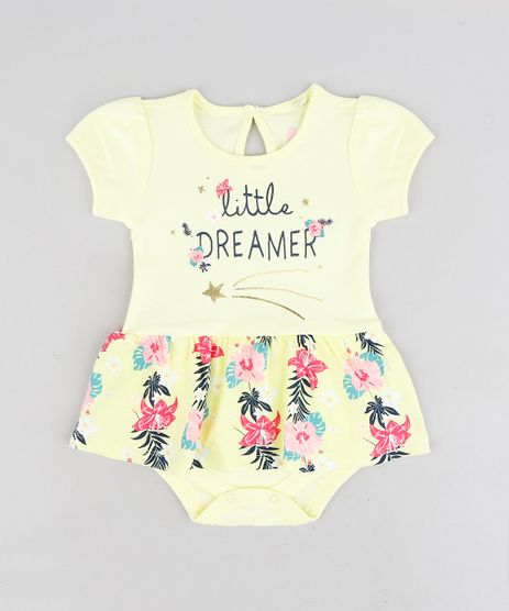 Body-Saia-Infantil--Little-Dreamer--Manga-Curta-Decote-Redondo-Amarelo-9114249-Amarelo_1