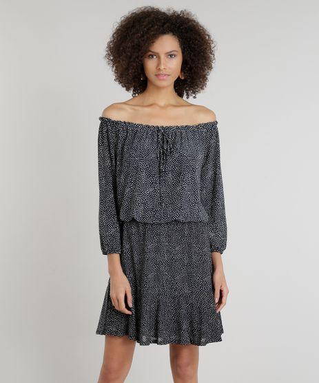 Vestido-Feminino-Ciganinha-Curto-Estampado-Poa-Preto-9293235-Preto_1