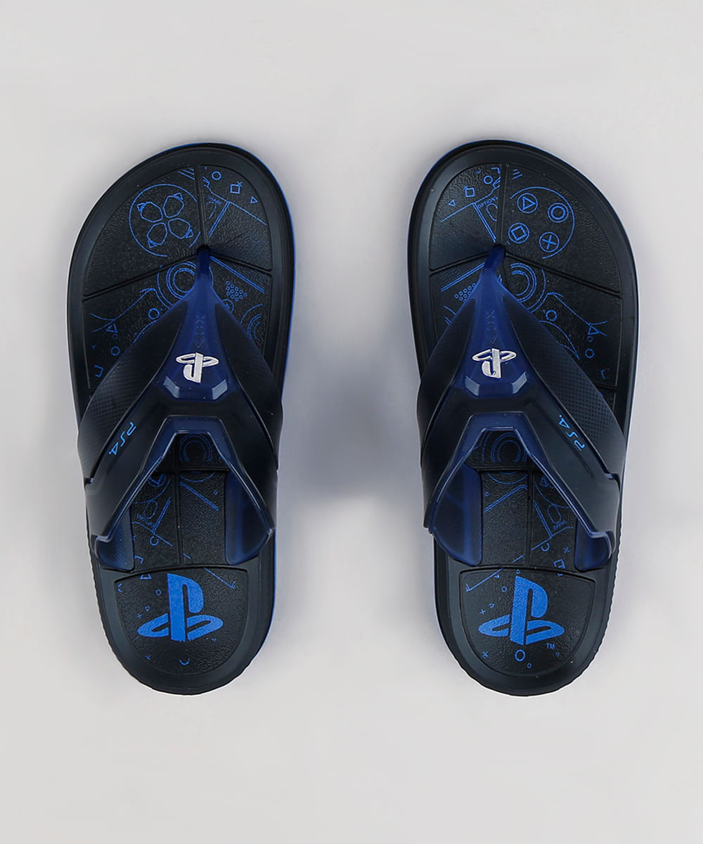 9a64ea23380ea0 Chinelo Infantil Grendene PlayStation Preto