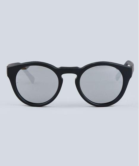 517bb5086 Óculos de Sol Redondo Infantil Espelhado Oneself Preto - cea