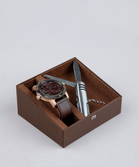 Kit-de-Relogio-Analogico-Mondaine-Masculino---Canivete---94850GPMVIC5K-Marrom-8905041-Marrom_1