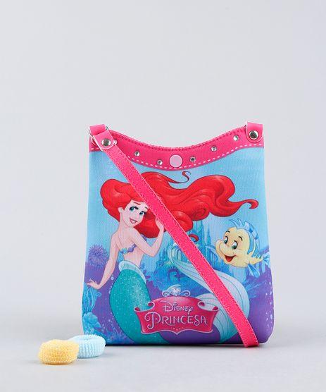 Bolsa-Infantil-Ariel-Pequena-Sereia-Estampada---Elastico-de-Cabelo-Azul-Claro-9239120-Azul_Claro_1
