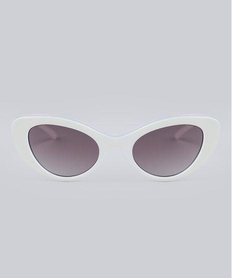 7a71630d928bd Oculos-de-Sol-Gatinho-Feminino-Oneself-Branco-9211876-