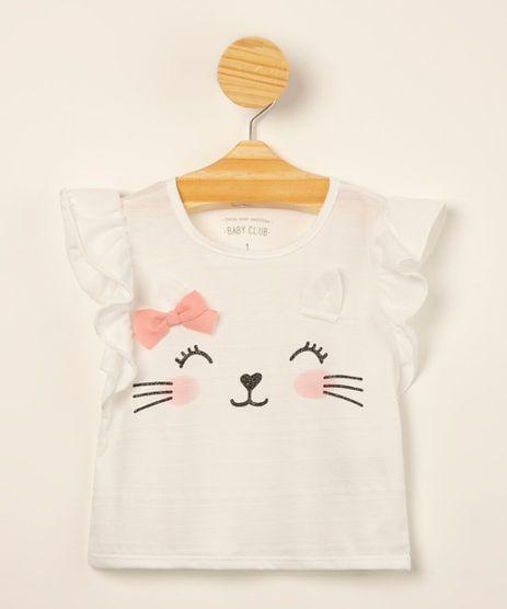 blusa-infantil-texturizada-carinha-de-gato-com-babado-e-glitter-off-white-1000682-Off_White_1