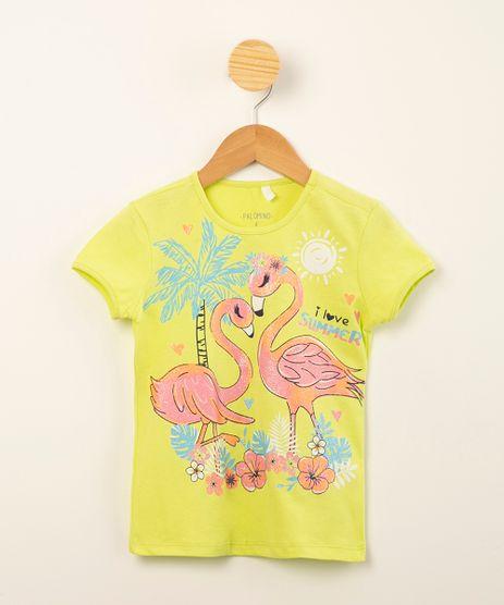 blusa-infantil-de-algodao-manga-curta-estampa-tropical-com-flamingos-amarelo-neon-1010661-Amarelo_Neon_1
