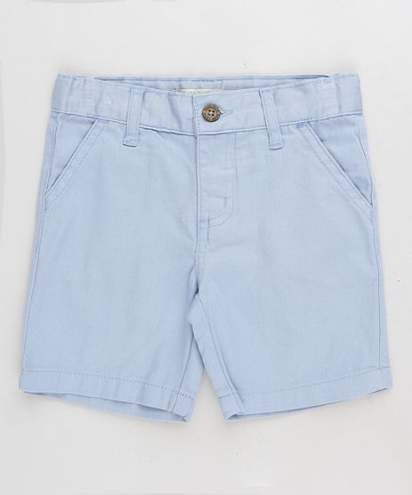 Bermuda-Color-Infantil-Reta-em-Algodao---Sustentavel-Azul-Claro-8277086-Azul_Claro_1