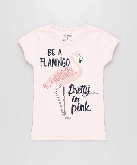 Blusa-Infantil-Flamingo-com-Glitter-Manga-Curta-Decote-Redondo-Rosa-Claro-9304206-Rosa_Claro_1