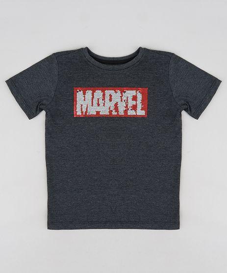 Camiseta-Infantil-Marvel-com-Paete-Dupla-Face-Manga-Curta-Gola-Careca-Cinza-Mescla-Escuro-9233874-Cinza_Mescla_Escuro_1