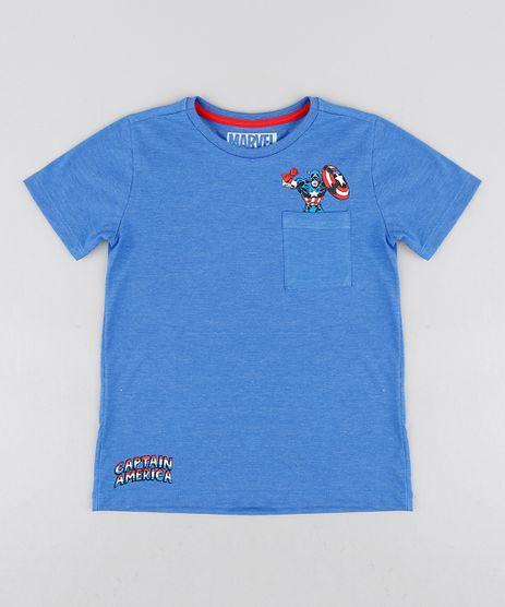 Camiseta-Infantil-Capitao-America-com-Bolso-Manga-Curta-Gola-Careca-Azul-9281447-Azul_1