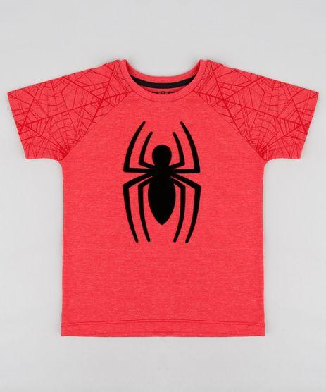 Camiseta-Infantil-Homem-Aranha-Raglan-Manga-Curta-Gola-Careca-Vermelha-9281445-Vermelho_1