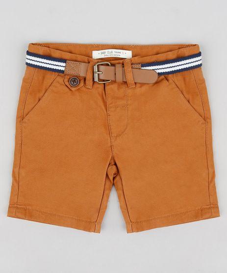 Bermuda-Color-Infantil-Slim-com-Cinto--Caramelo-8710132-Caramelo_1