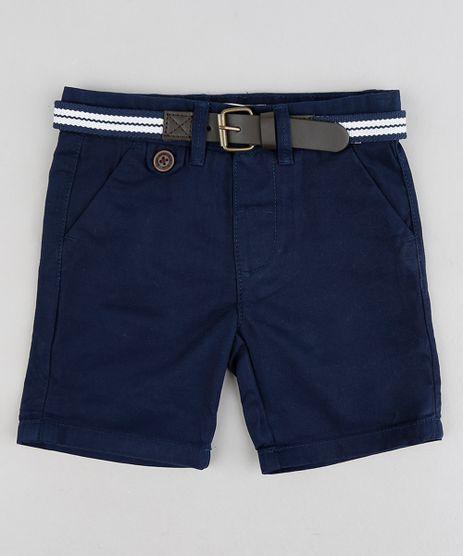 Bermuda-Color-Infantil-Slim-com-Cinto--Azul-Marinho-8710132-Azul_Marinho_1