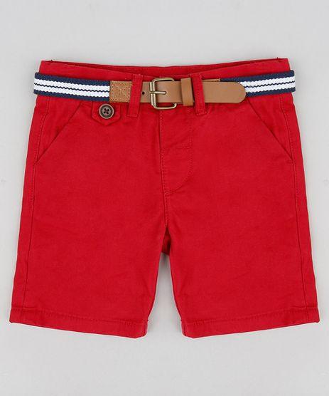Bermuda-Color-Infantil-Slim-com-Cinto--Vermelha-8710132-Vermelho_1