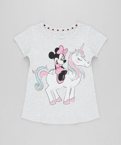 Blusa-Infantil-Minnie-e-Unicornio-com-Glitter-Manga-Curta-Decote-Redondo-Cinza-Mescla-Claro-9268818-Cinza_Mescla_Claro_1