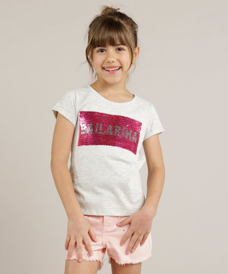 Blusa-Infantil-com-Paete-Dupla-Face-Manga-Curta-Decote-Redondo-Cinza-Mescla-Claro-9245403-Cinza_Mescla_Claro_1