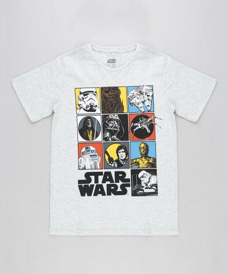 Camiseta-Infantil-Star-Wars-Manga-Curta-Gola-Careca-Cinza-Mescla-Claro-9232208-Cinza_Mescla_Claro_1