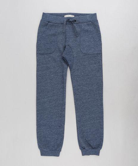 Calca-Infantil-Jogger-em-Moletom-com-Bolsos-Azul-Marinho-9198320-Azul_Marinho_1