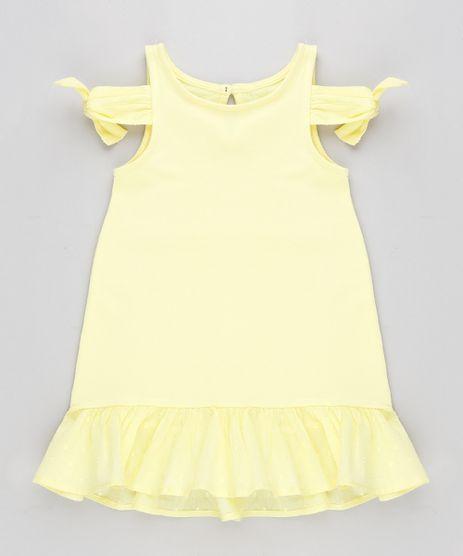 Vestido-Infantil-Open-Shoulder-com-No-e-Babado-Amarelo-9213134-Amarelo_1