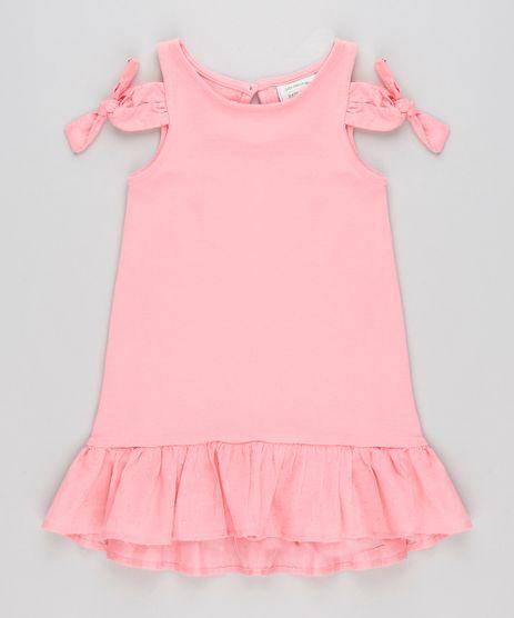 Vestido-Infantil-Open-Shoulder-com-No-e-Babado-Rosa-9213132-Rosa_1