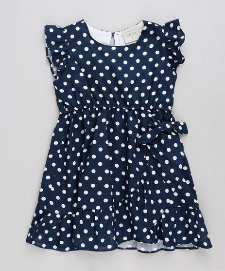 Vestido-Infantil-Estampado-de-Poa-com-No-e-Babado-Azul-Marinho-9245119-Azul_Marinho_1