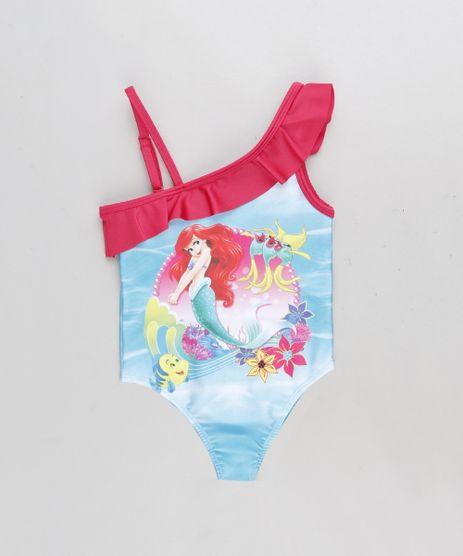 Maio-Infantil-Um-Ombro-So-Pequena-Sereia-Ariel-com-Babado-com-Protecao-UV50--Azul-9231974-Azul_1