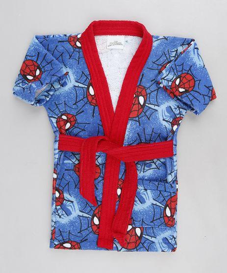 Roupao-Infantil-Atoalhado-Estampado-Homem-Aranha-Azul-9328661-Azul_1