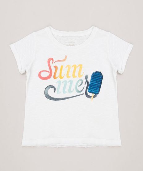 Blusa-Infantil--Summer--com-Paete-Dupla-Face-Manga-Curta-Decote-Redondo-Off-White-9233134-Off_White_1