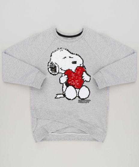 Blusao-Infantil-Snoopy-com-Paete-Dupla-Face-em-Moletom-Manga-Longa-Cinza-Mescla-9175385-Cinza_Mescla_1