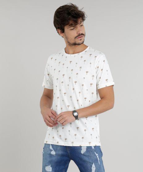 Camiseta-Masculina-Estampada-de-Coqueiros-Manga-Curta-Gola-Careca-Off-White-9294427-Off_White_1