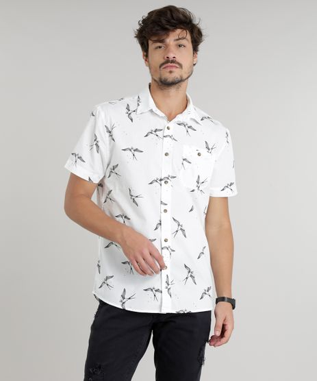Camisa-Masculina-Estampada-de-Andorinhas-Manga-Curta-Off-White-9110473-Off_White_1