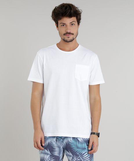 Camiseta-Masculina-com-Bolso-Manga-Curta-Gola-Careca-Branca-9226102-Branco_1