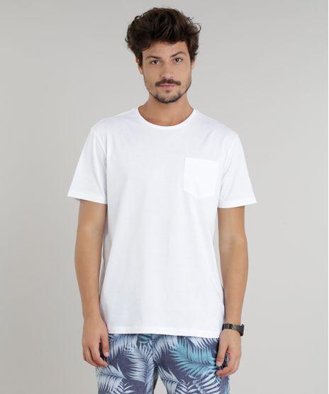 41c0f8154a Short Masculino Estampado de Folhagem com Bolsos Azul - cea
