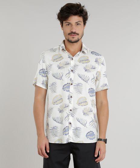 Camisa-Masculina-Estampada-de-Folhagem-Manga-Curta-Off-White-9146544-Off_White_1