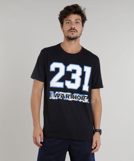 Camiseta-Masculina-Esportiva-Ace--231-Warrior--Manga-Curta-Gola-Careca-Preta-9333840-Preto_1