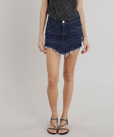 Saia-Jeans-Feminina-Diamond-e-Barra-Desfiada-Azul-Escuro-9319562-Azul_Escuro_1