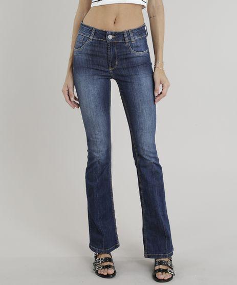 Calca-Jeans-Feminina-Flare-Sawary--Azul-Escuro-9322491 beae9506a3c