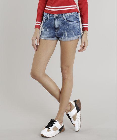 Short-Jeans-Feminino-Boy-com-Puidos-Barra-Dobrada-Azul-Medio-9328490-Azul_Medio_1