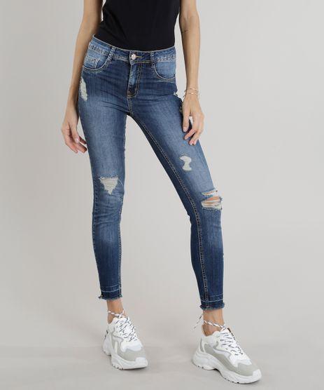 Calca-Jeans-Feminina-Sawary-Cigarrete-Destroyed-Barra-Desfiada-Azul-Escuro-9322492-Azul_Escuro_1