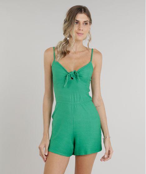 72b71b256 Macaquinho-Feminino-com-No-no-Decote-Verde-9279408- ...