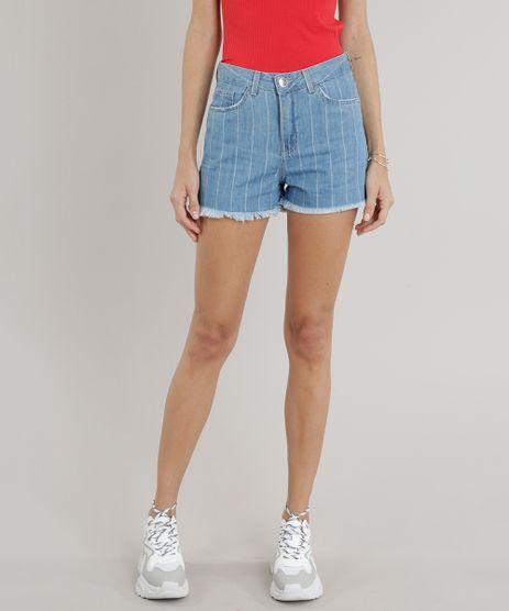 Short-Jeans-Feminino-Vintage-Listrado-Azul-Claro-9263423-Azul_Claro_1