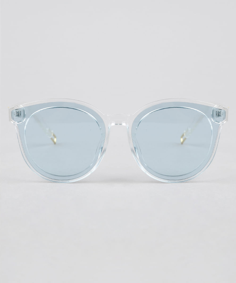 f3df226ac Óculos de Sol Redondo Feminino Oneself Transparente - ceacollections