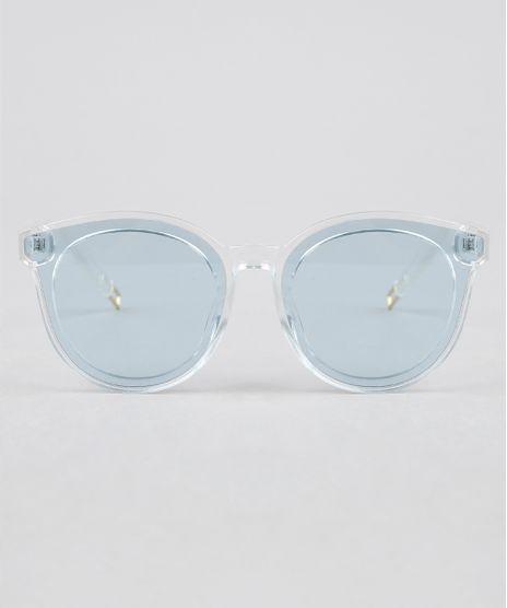 c998ceac13f26 Oculos-de-Sol-Redondo-Feminino-Oneself-Transparente-9351228-