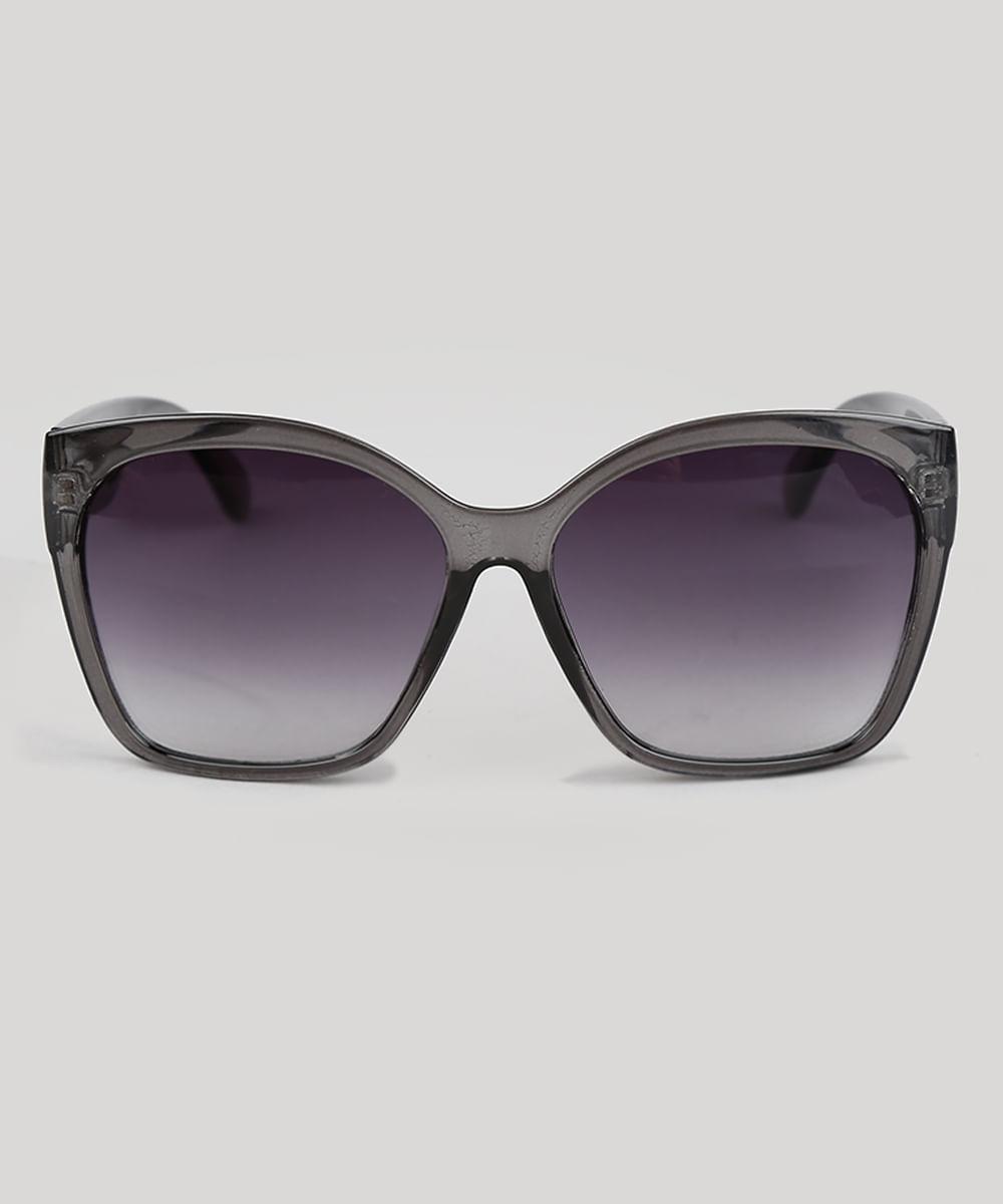 Óculos de Sol Quadrado Feminino Oneself Preto - Único 0d25d5a1c9