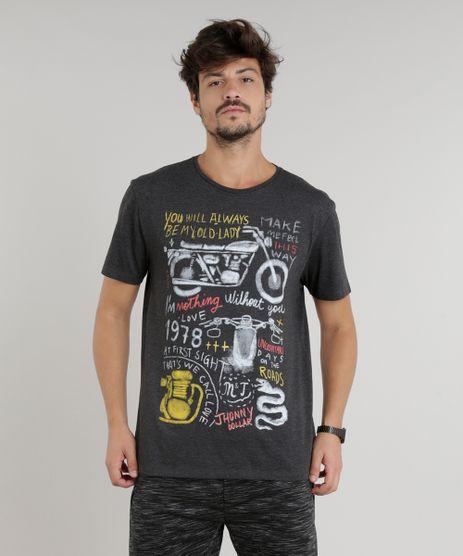 Camiseta-Masculina--Famous--Manga-Curta-Gola-Careca-Cinza-Mescla-Escuro-9203364-Cinza_Mescla_Escuro_1
