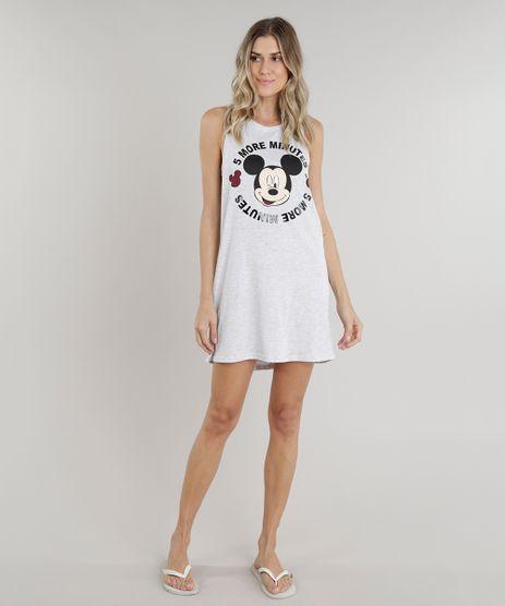 Camisola-Feminina-Mickey-Mouse-Decote-Nadador-Cinza-Mescla-Claro-9222805-Cinza_Mescla_Claro_1