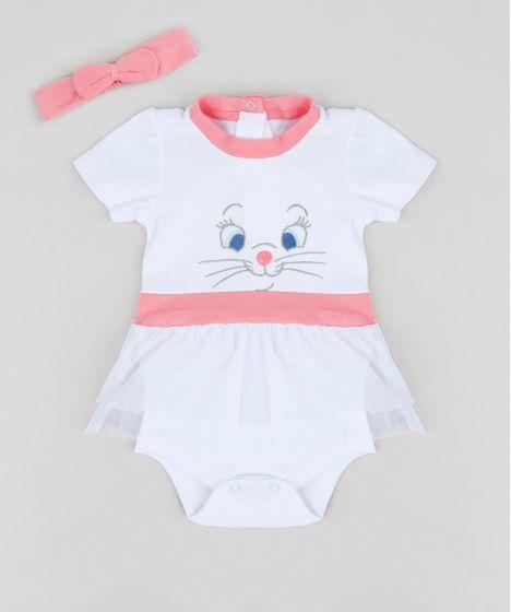 850ac6acd Body Saia Infantil Marie Manga Curta Decote Redondo + Faixa de ...