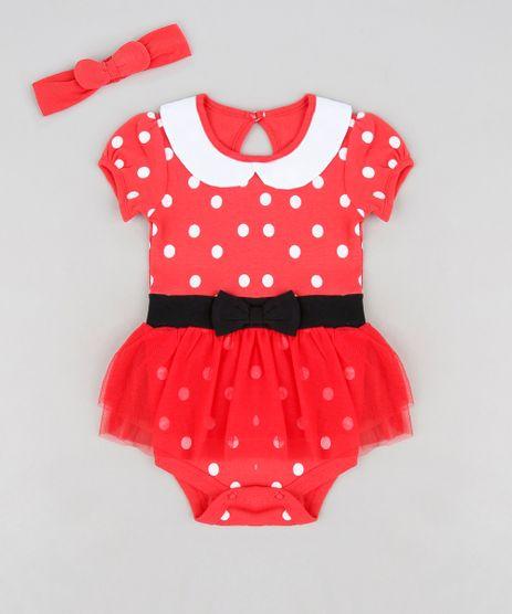 Body-Saia-Infantil-Minnie-Manga-Curta-Decote-Redondo---Faixa-de-Cabelo-Vermelho-9120547-Vermelho_1