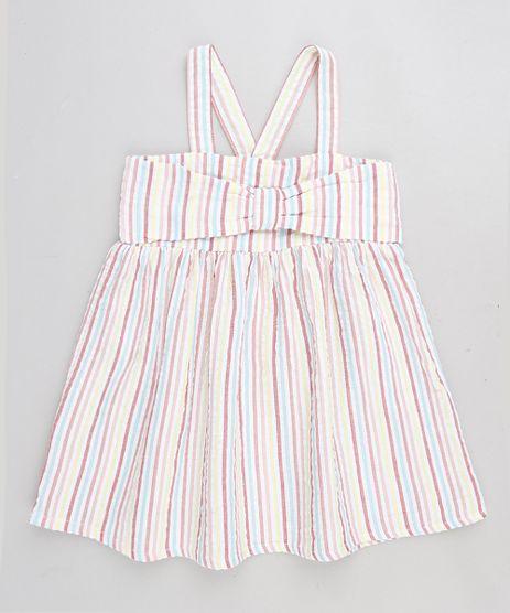 Vestido-Infantil-Listrado-com-Laco-Branco-9174593-Branco_1